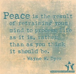 Peace is the result 