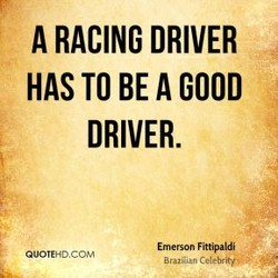 A RACING DRIVER 