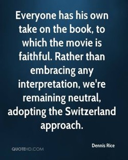 Everyone has his own 