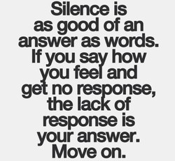 Silence is 