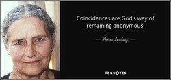 Coincidences are God's way of 