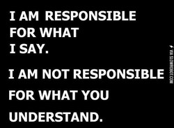 1 AM RESPONSIBLE 