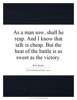 As a man sow, shall he 