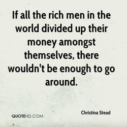 If all the rich men in the 