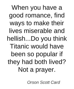When you have a 