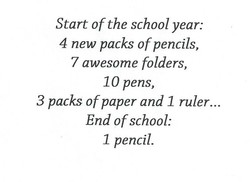 Start of the school year: 
