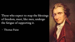 Those who expect to reap the blessings 