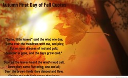 •Autumn First Day of Fall Quotes -
