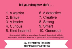 Tell your daughter she's .. 