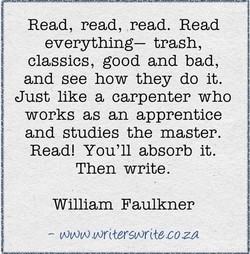 Read, read, read. Read 