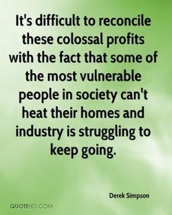 It's difficult to reconcile 