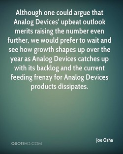 Although one could argue that 