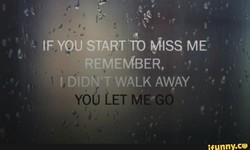 IF YOU START TO ME 
