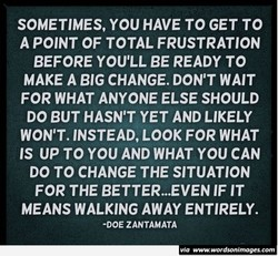 SOMETIMES, YOU HAVE TO GET TO 