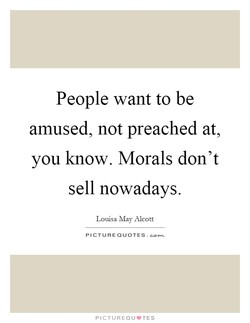 People want to be 