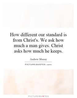 How different our standard is 