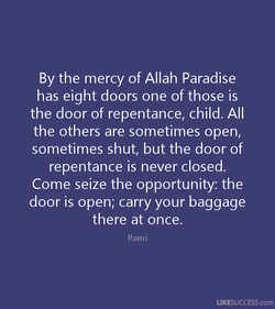 By the mercy of Allah Paradise 