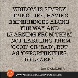 WISDOM IS SIMPLY 