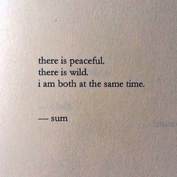 there is peaceful. 