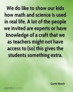 We do like to show our kids 