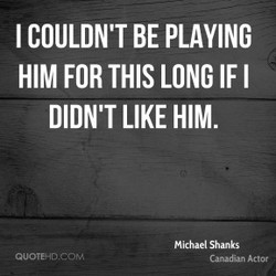 I COULDN'T BE PLAYING 