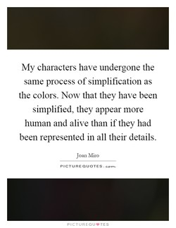 My characters have undergone the 