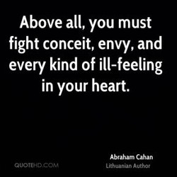 Above all, you must 