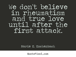We don't believe 