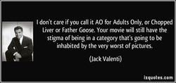 I don't care if you call it AO for Adults Only, or Chopped 