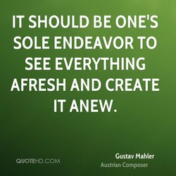 IT SHOULD BE ONE'S 