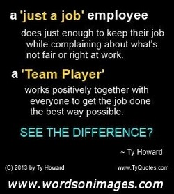 a •just a job' employee 
