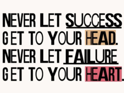 NEVER LET SUCCES 