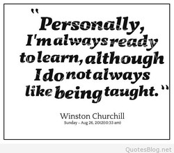 Personally, 