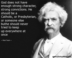 God does not have 