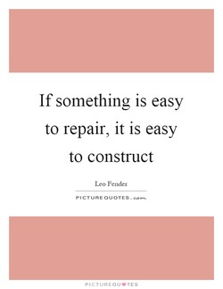 If something is easy 