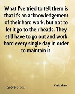 What I've tried to tell them is 
