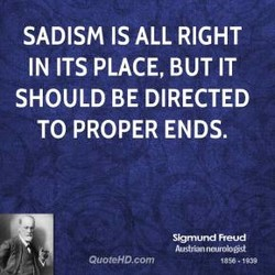 SADISM IS ALL RIGHT 