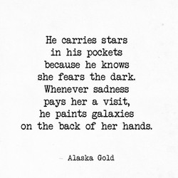 He carries stars 