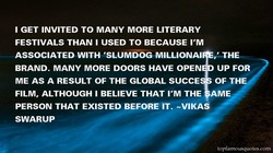 I GET INVITED TO MANY MORE LITERARY 