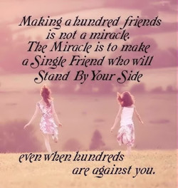 Making o hundred friends 