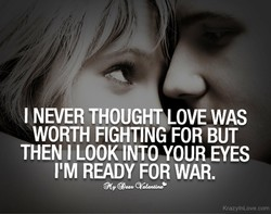 I NEVER THOUGHT LOVE WAS 