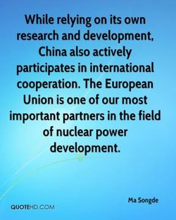 While relying on its own 