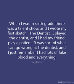 When I was in sixth grade there 