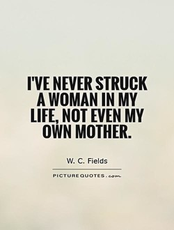 I'VE NEVER STRUCK 
