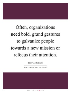 Often, organizations 