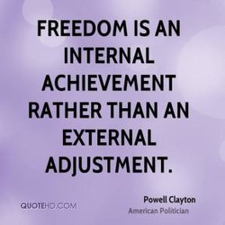 FREEDOM IS AN 