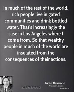 In much of the rest of the world, 