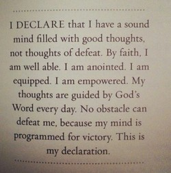 I DECLARE that I have a sound 