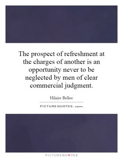 The prospect of refreshment at 