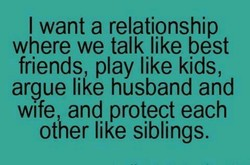 I want a relationship 